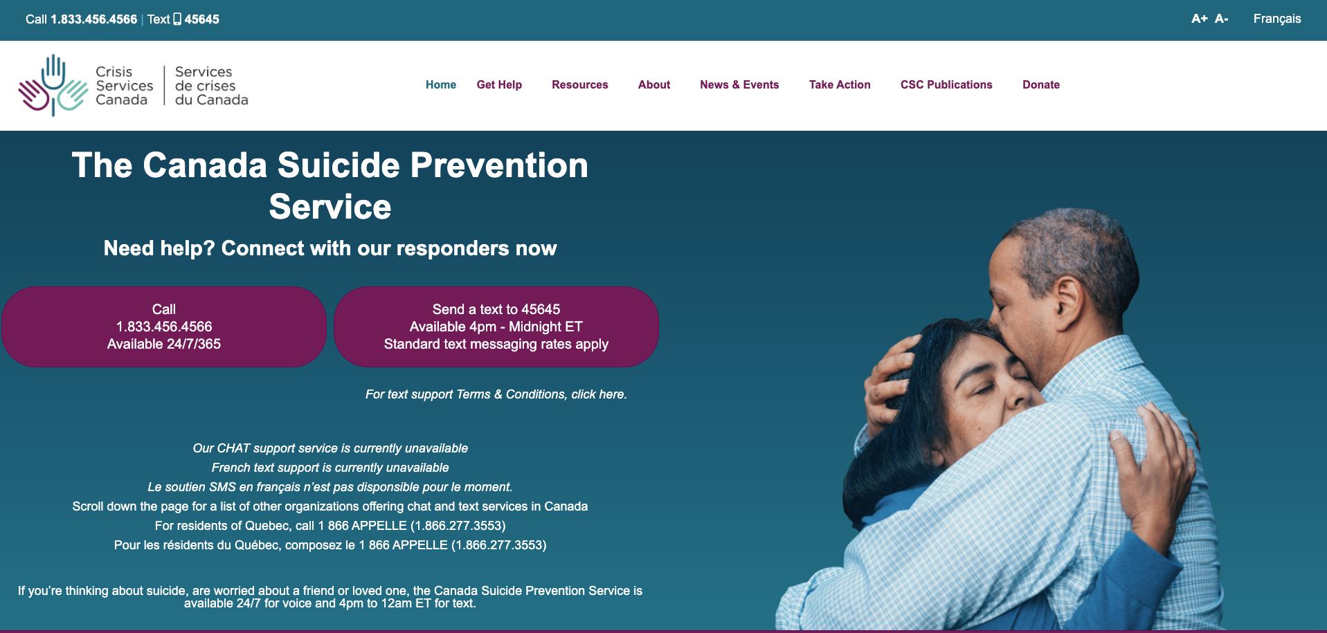 Crisis Services Canada
