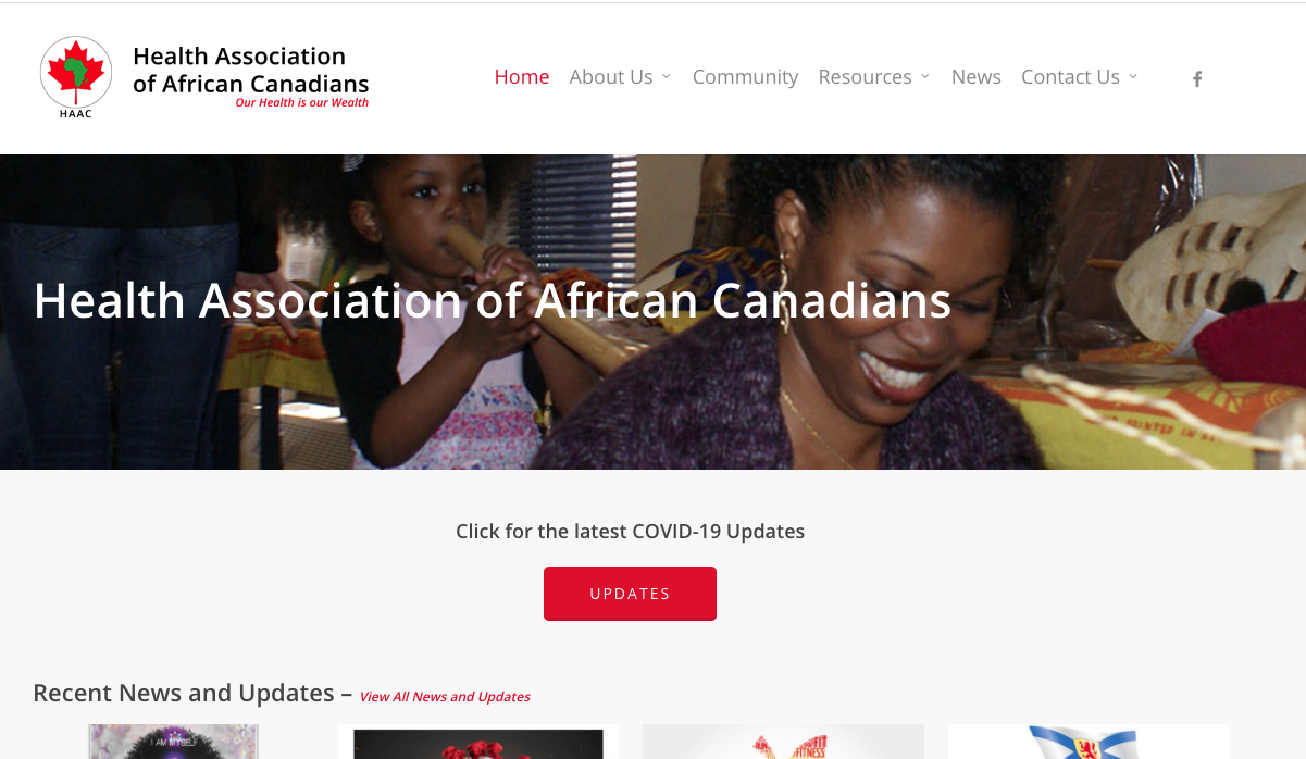 Health Association of African Canadians – Mental Health Resources