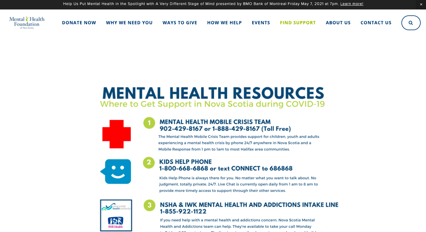 COVID-19 Mental Health Resources